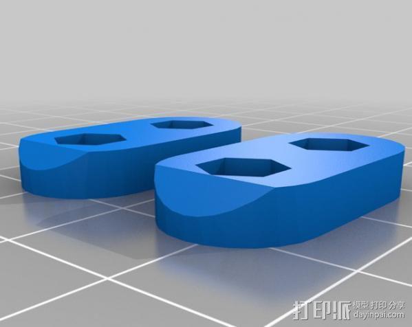 打印机X轴部件 轴承支架 3D模型  图6