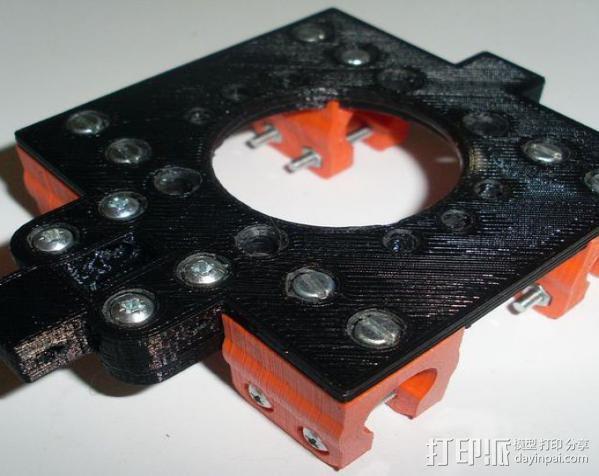打印机X轴部件 轴承支架 3D模型  图3