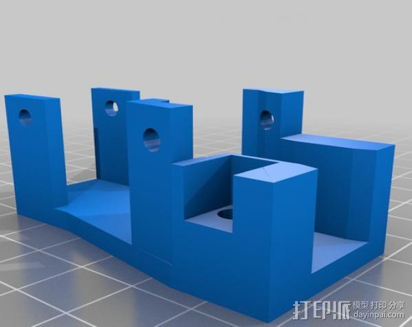挤出机支架 3D模型  图3