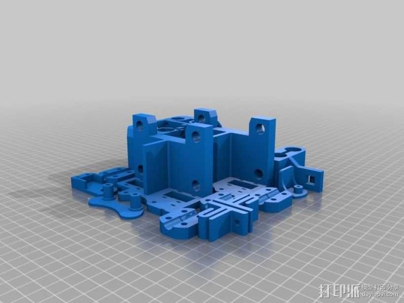 打印机底盘托架 3D模型  图1