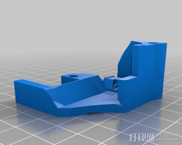 激光切割器支架 3D模型  图1