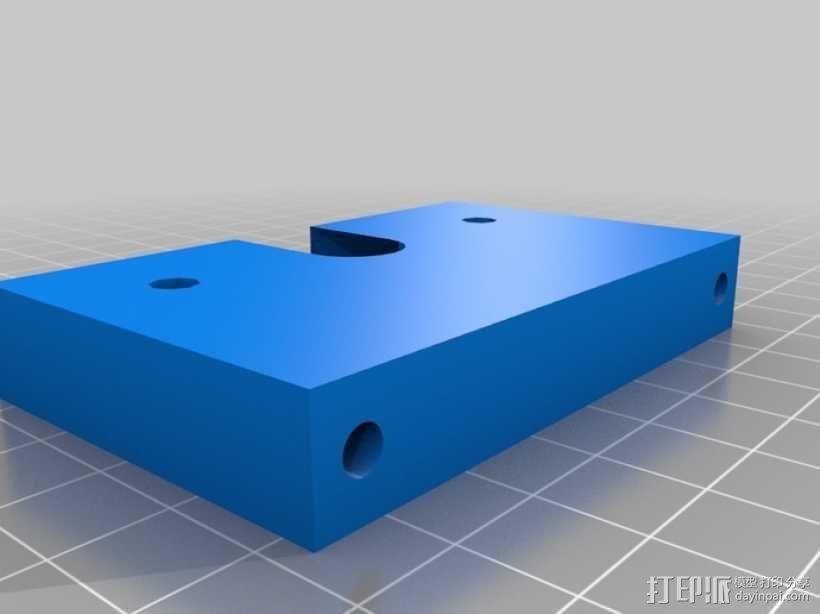 挤出机喷头支架 3D模型  图2