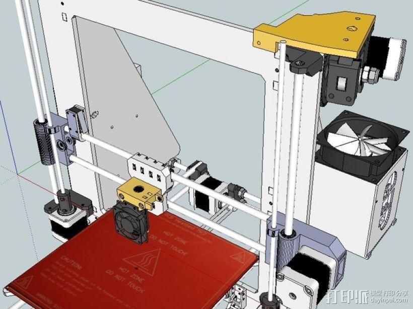 挤出机喷头支架 3D模型  图1