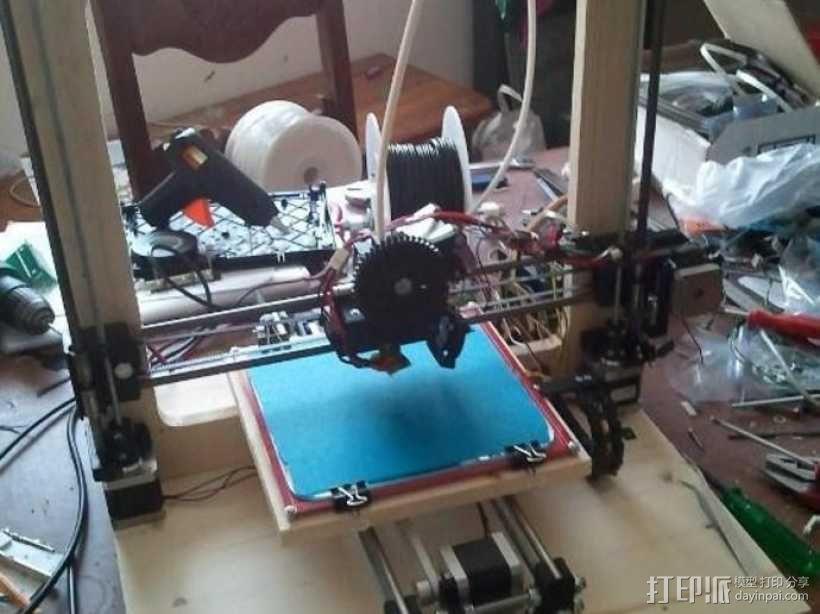 挤出机喷头支架 3D模型  图4
