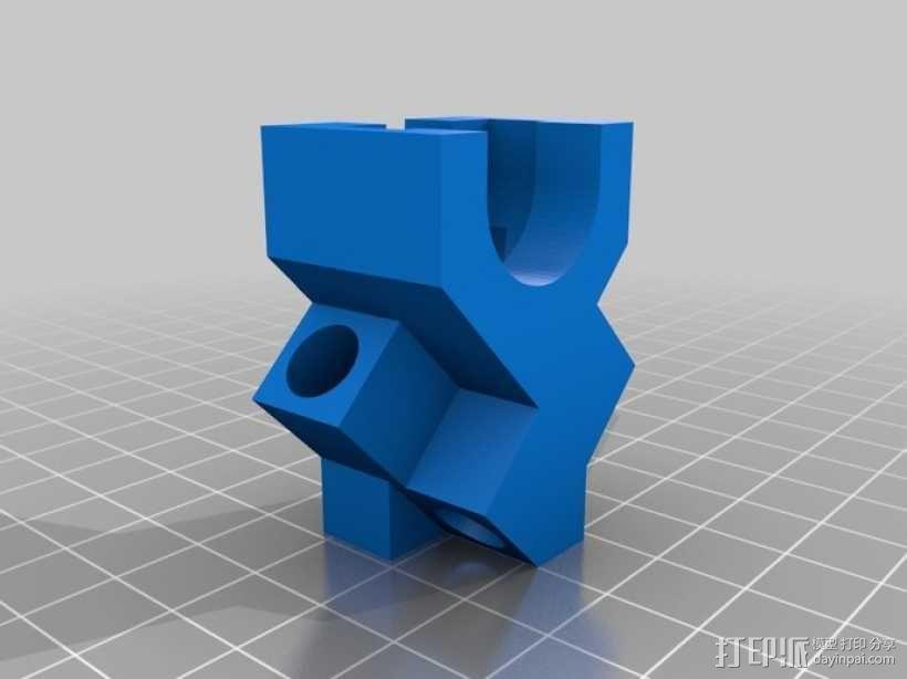 线轴支架 3D模型  图1