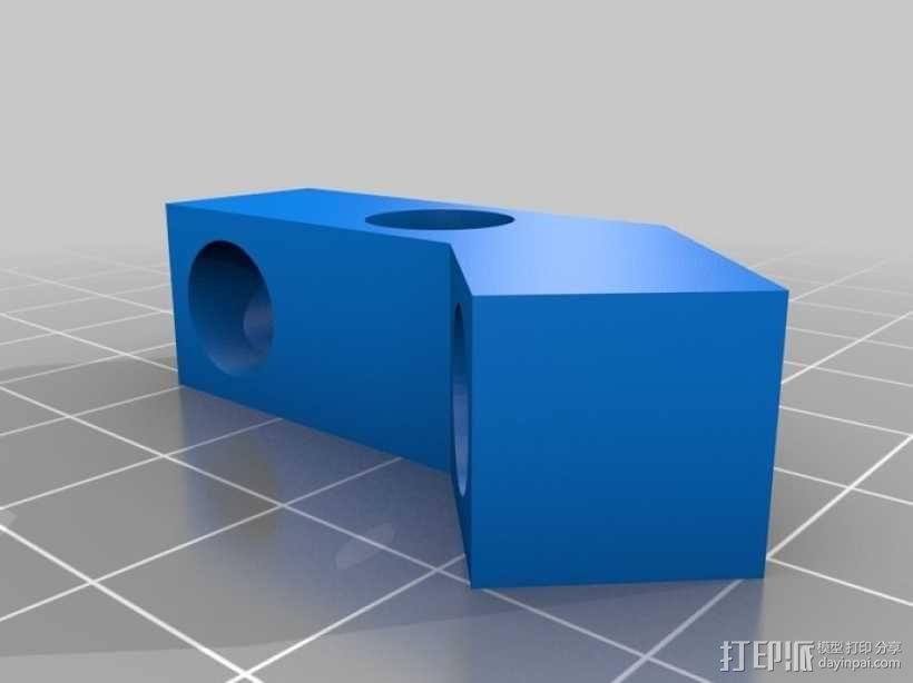 线轴支架 3D模型  图3