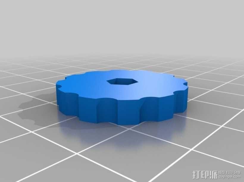 拇指旋轮 3D模型  图2
