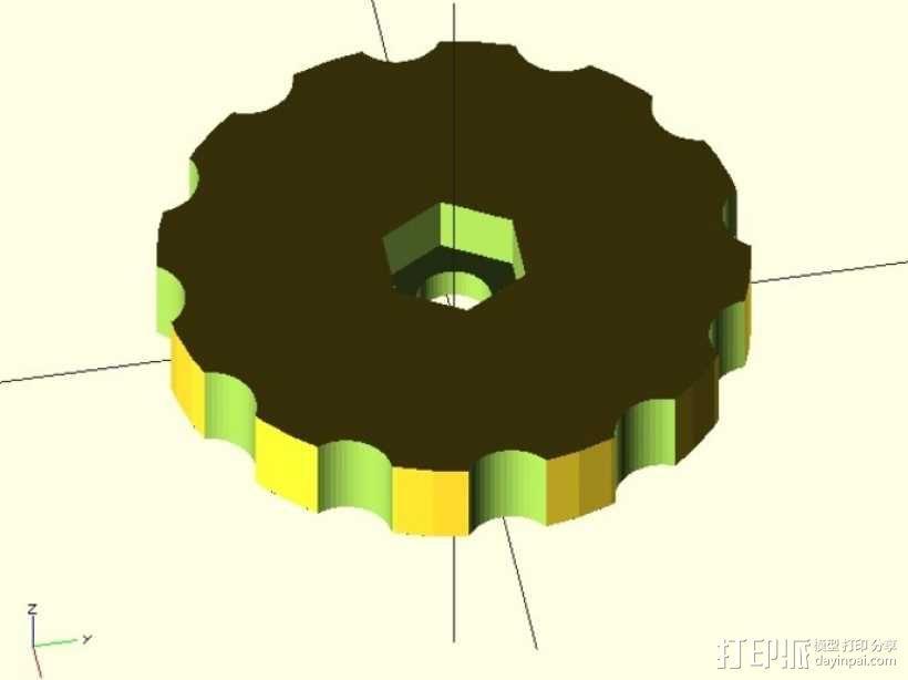 拇指旋轮 3D模型  图1