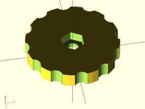 拇指旋轮 3D模型