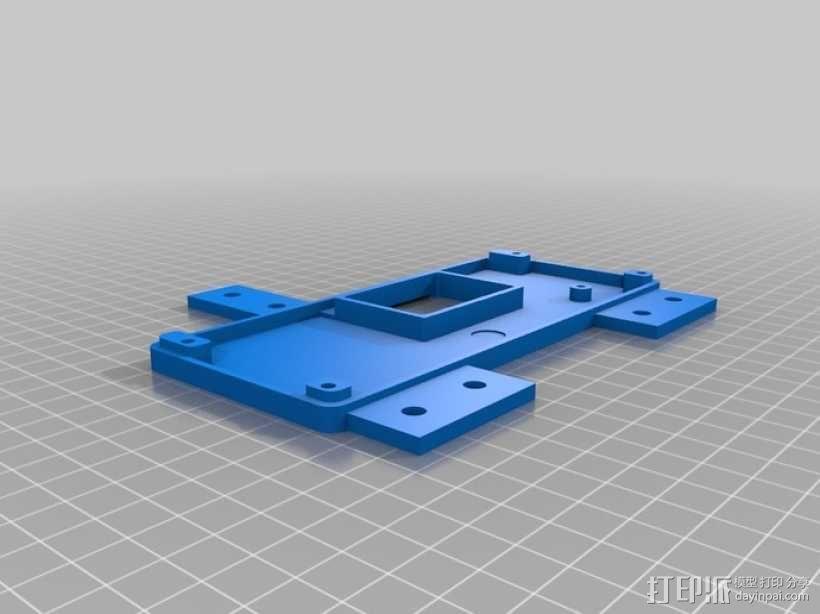 智能控制器显示屏外壳 3D模型  图2