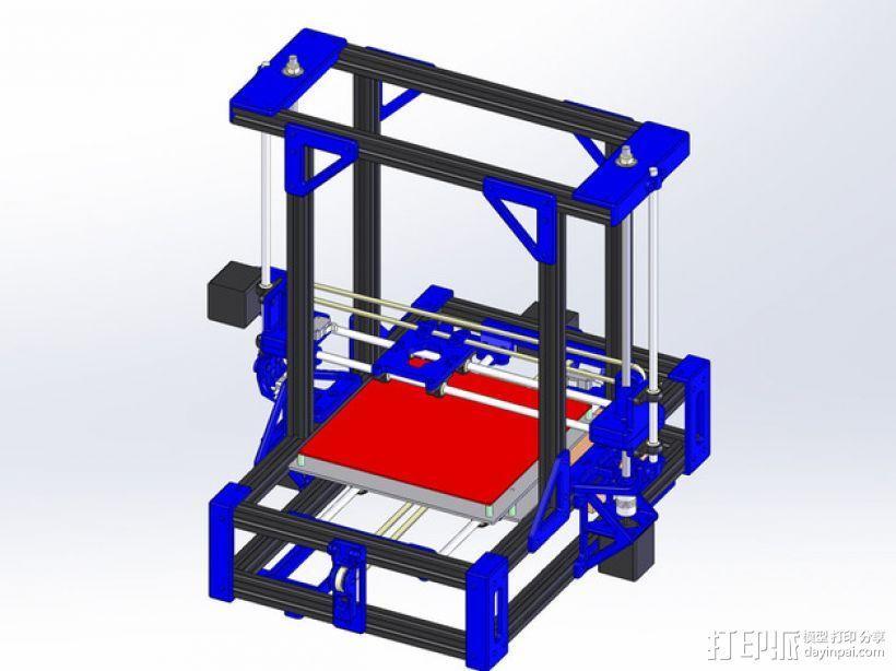 自制的3D打印机 3D模型  图1