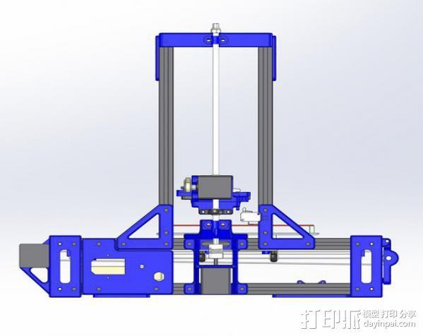 自制的3D打印机 3D模型  图2