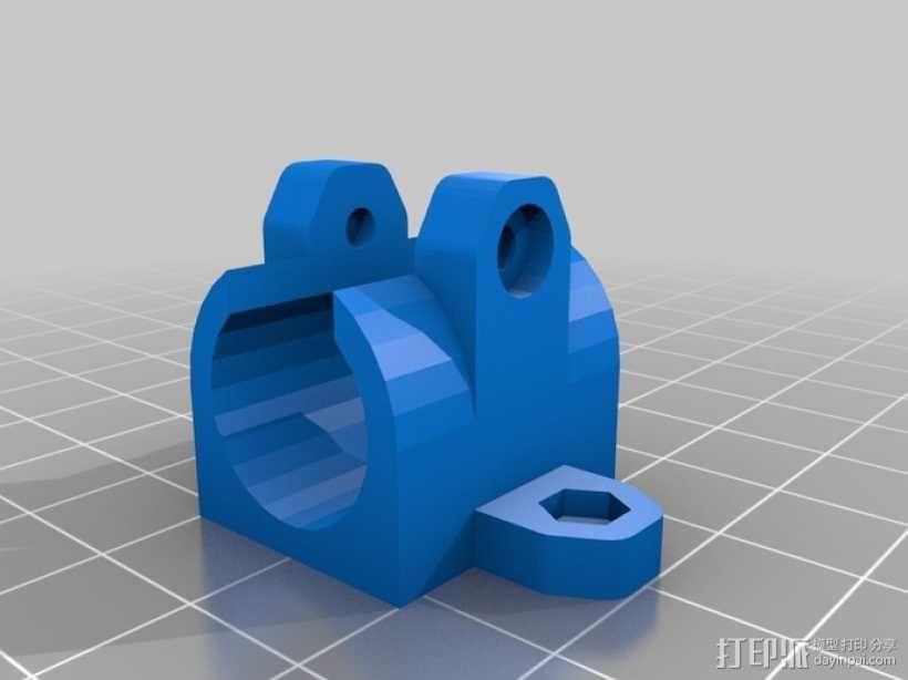 LM8UU轴承固定器 轴承套管 3D模型  图1