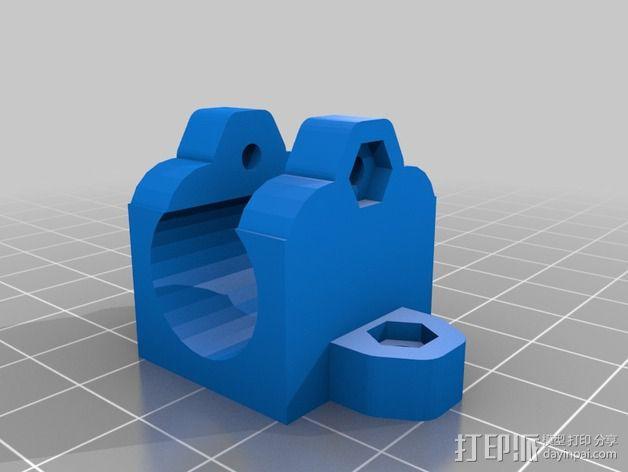 LM8UU轴承固定器 轴承套管 3D模型  图2
