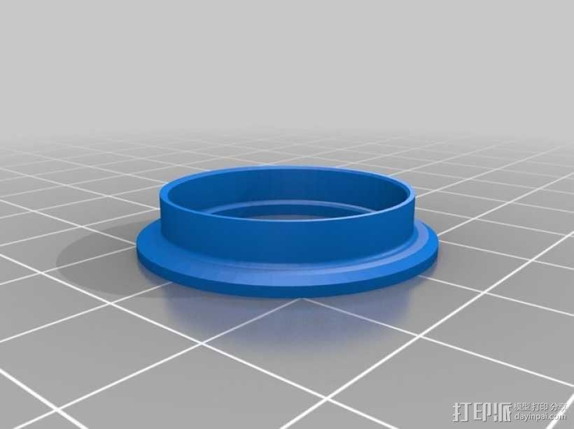 轴承凸缘 3D模型  图1