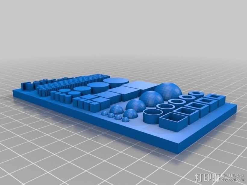 几何形状打印测试 3D模型  图2