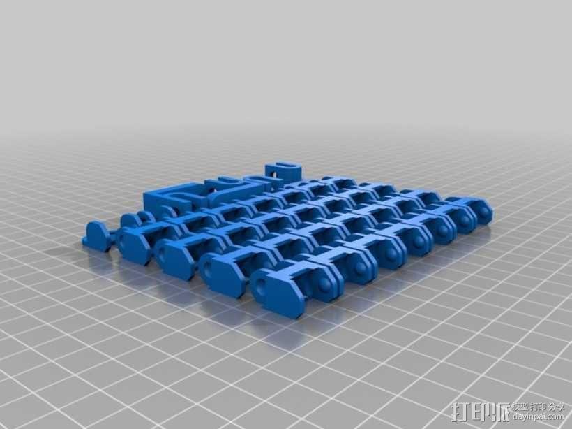 电缆锚链 3D模型  图4