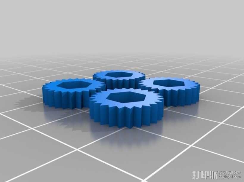 电缆锚链 3D模型  图5