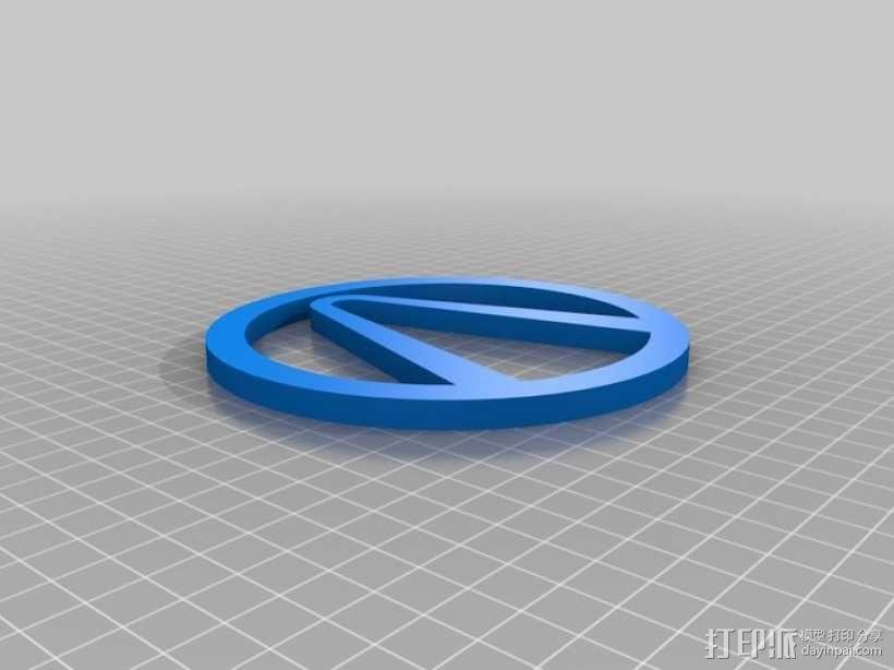 无主之地 标志 3D模型  图1