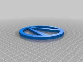 无主之地 标志 3D模型