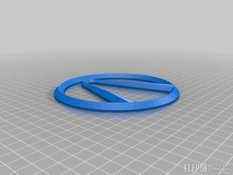 无主之地 标志 3D模型  图5
