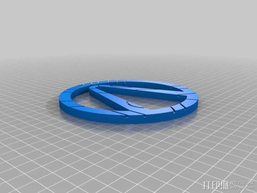 无主之地 标志 3D模型  图3