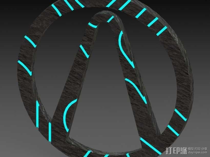无主之地 标志 3D模型  图4