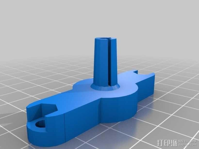 挤出机线材固定器 3D模型  图3