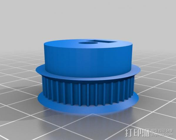 齿轮 皮带滑轮 3D模型  图2