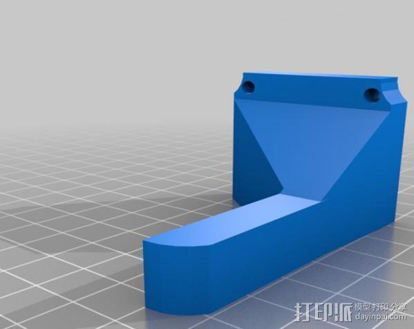 双挤出机支架 3D模型  图5