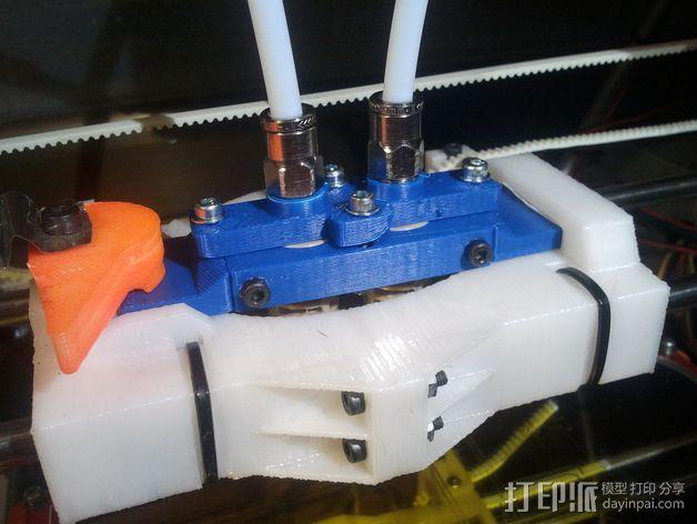 双挤出机支架 3D模型  图4