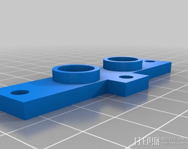 双挤出机支架 3D模型  图6