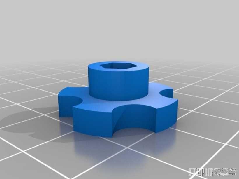 拇指旋钮 3D模型  图5