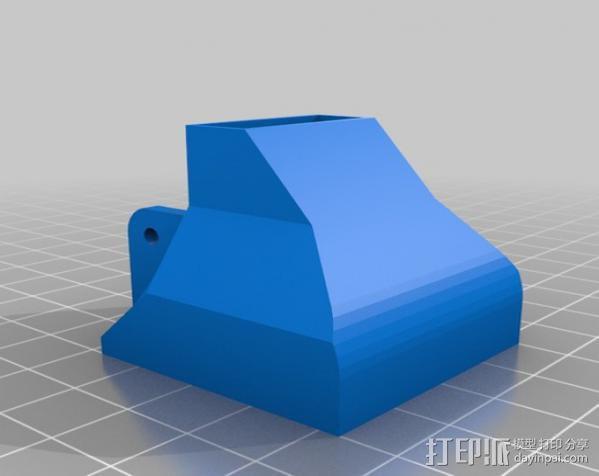 40毫米的风扇罩 3D模型  图1