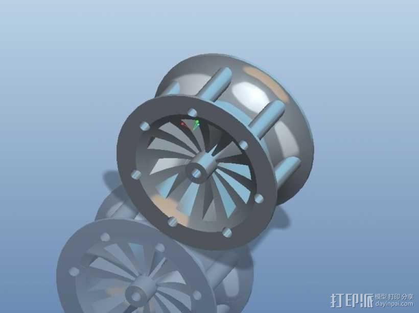 遥控赛车车轮 3D模型  图2