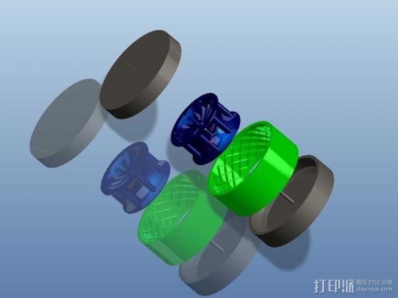 遥控赛车车轮 3D模型  图8