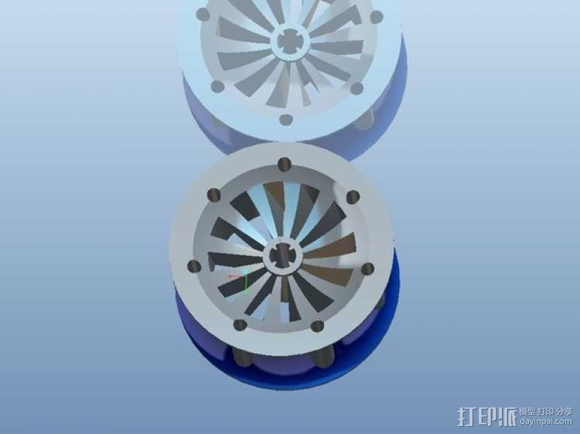 遥控赛车车轮 3D模型  图10