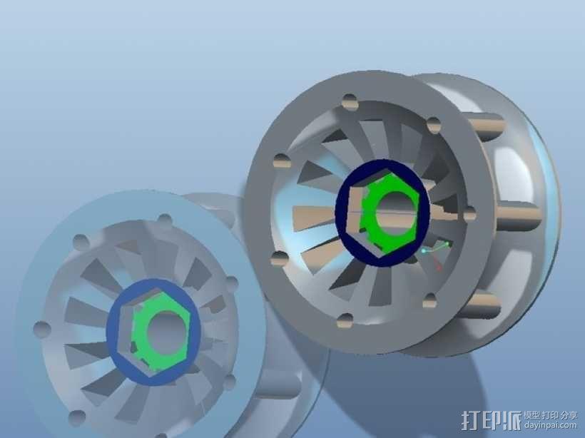 遥控赛车车轮 3D模型  图13