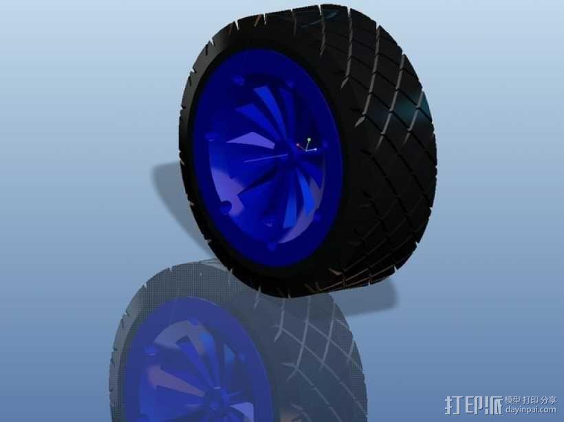 遥控赛车车轮 3D模型  图15