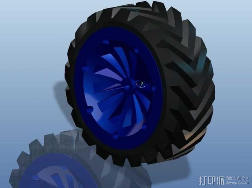 遥控赛车车轮 3D模型  图24