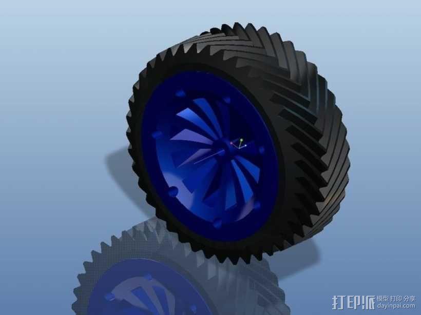遥控赛车车轮 3D模型  图25