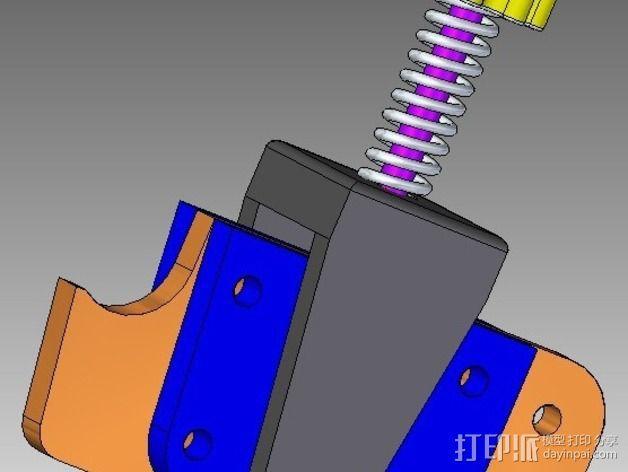 弹簧加压式挤出机 3D模型  图2