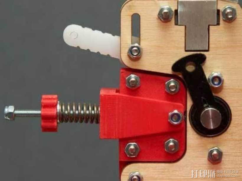 弹簧加压式挤出机 3D模型  图1