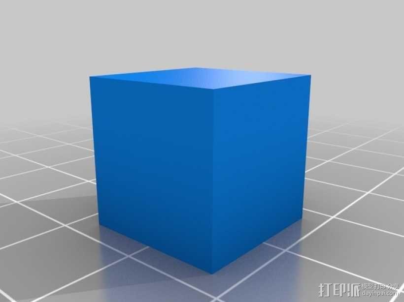 15毫米的方块 3D模型  图1