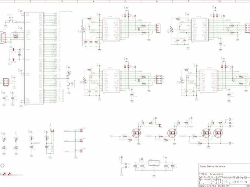 控制器电路板 3D模型  图2