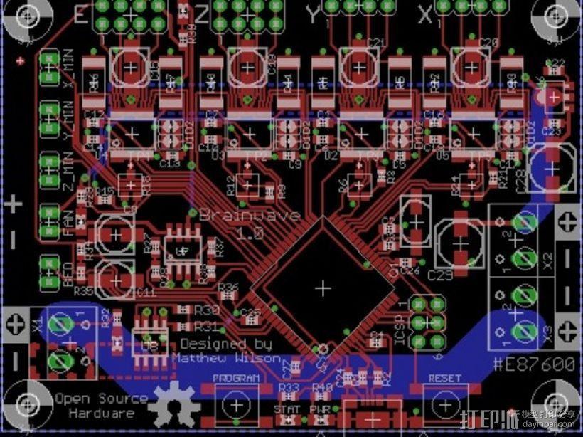 控制器电路板 3D模型  图1