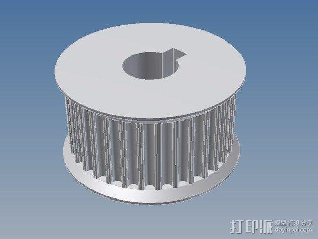 滑轮 3D模型  图3