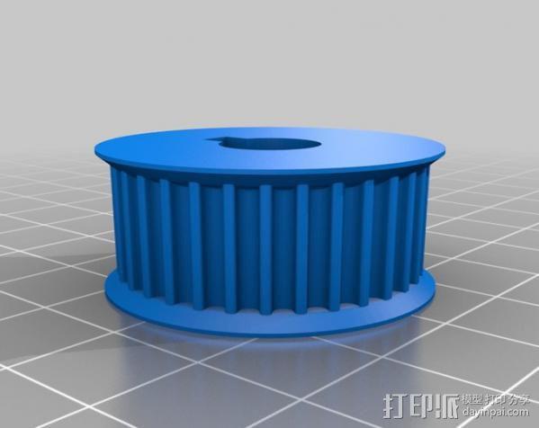 滑轮 3D模型  图4