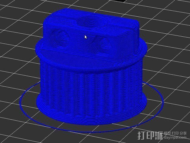 滑轮 3D模型  图5