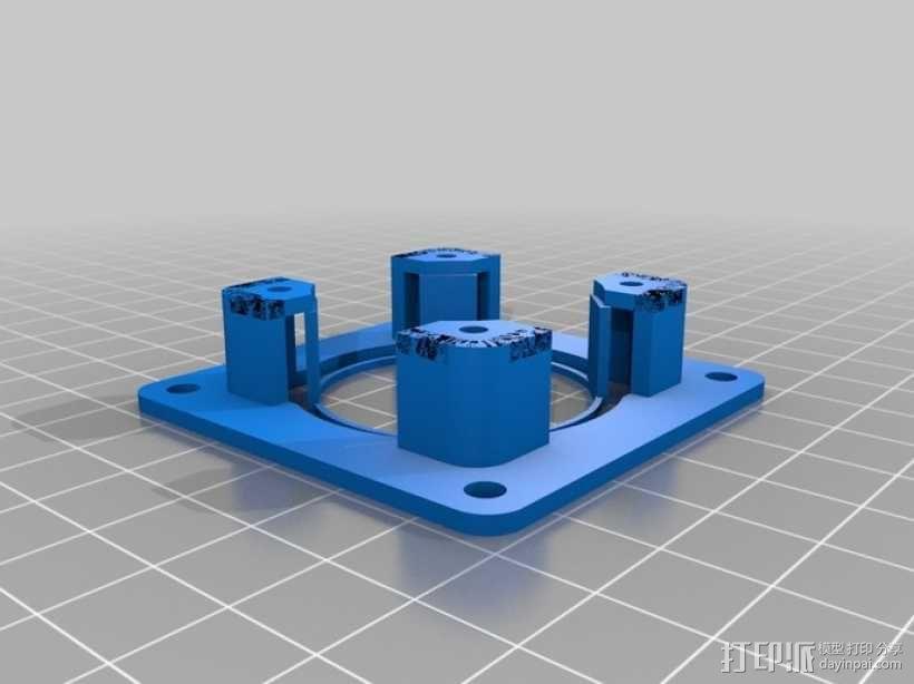 Nema 17步进电机适配器 3D模型  图1